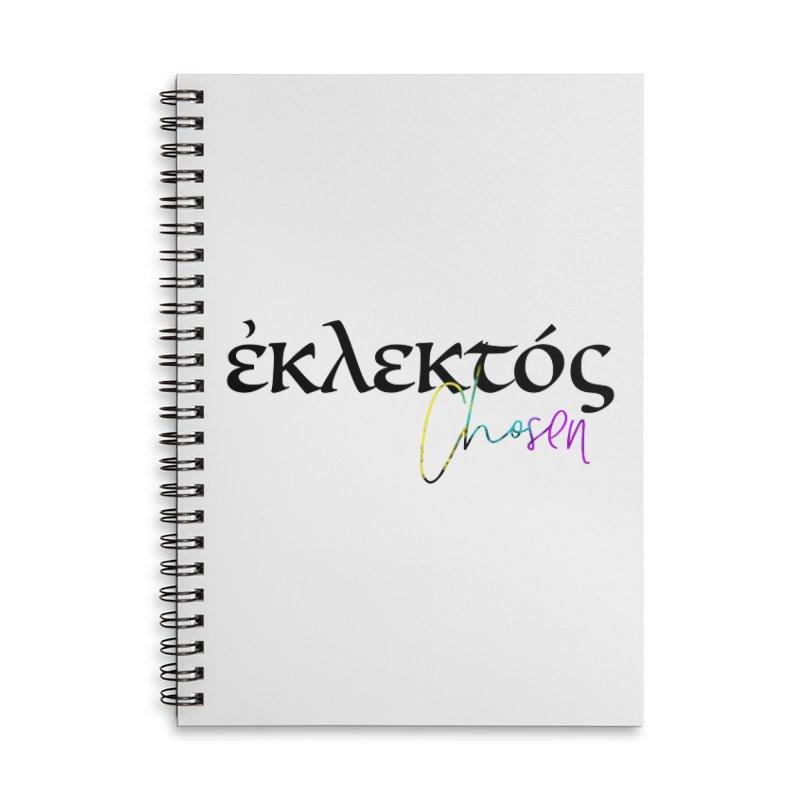 Eklektos - Chosen Accessories Lined Spiral Notebook by XXXIII Apparel