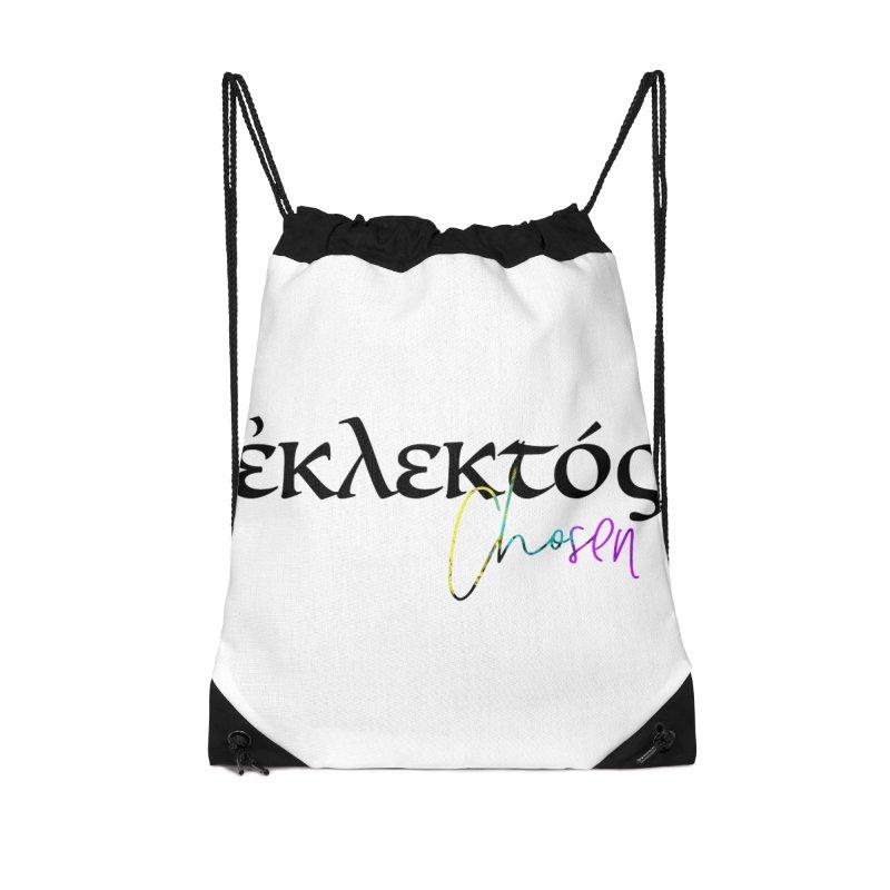 Eklektos - Chosen Accessories Drawstring Bag Bag by XXXIII Apparel