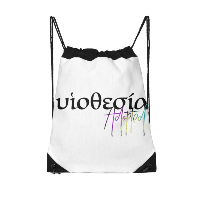 Huiothesia - Adopted Accessories Drawstring Bag Bag by XXXIII Apparel