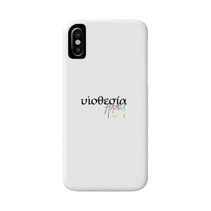Huiothesia - Adopted (White) Accessories Phone Case by XXXIII Apparel