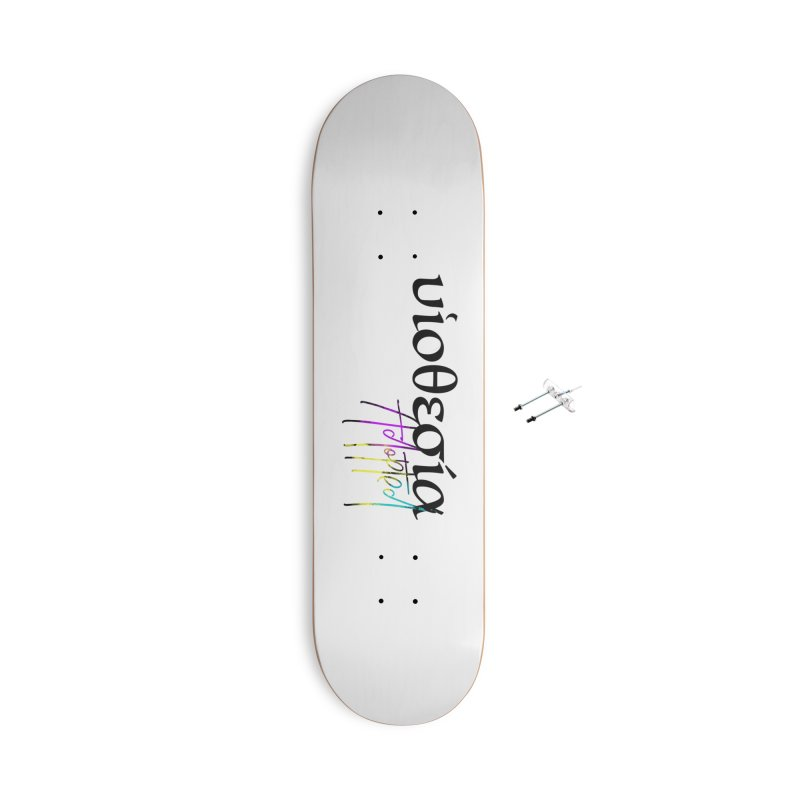 Huiothesia - Adopted (White) Accessories With Hanging Hardware Skateboard by XXXIII Apparel
