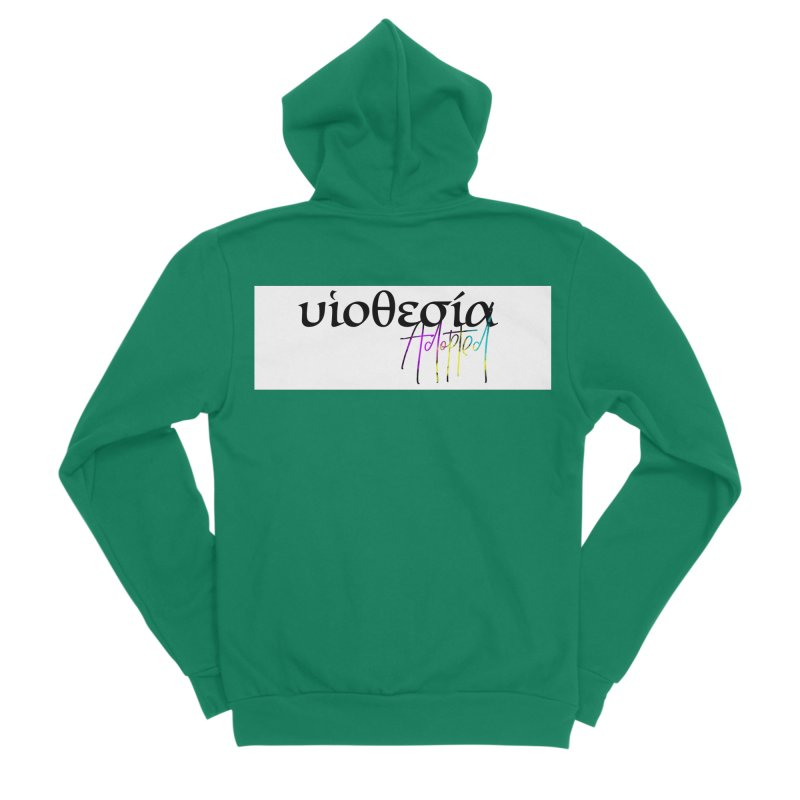 Huiothesia - Adopted (White) Women's Sponge Fleece Zip-Up Hoody by XXXIII Apparel