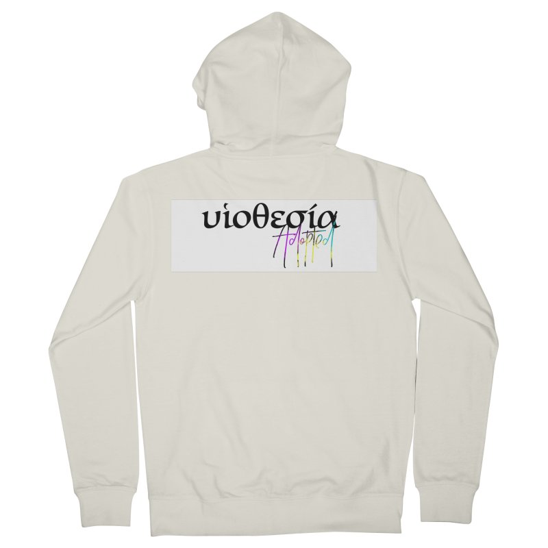 Huiothesia - Adopted (White) Women's French Terry Zip-Up Hoody by XXXIII Apparel