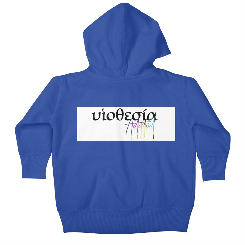 Huiothesia - Adopted (White) Kids Baby Zip-Up Hoody by XXXIII Apparel