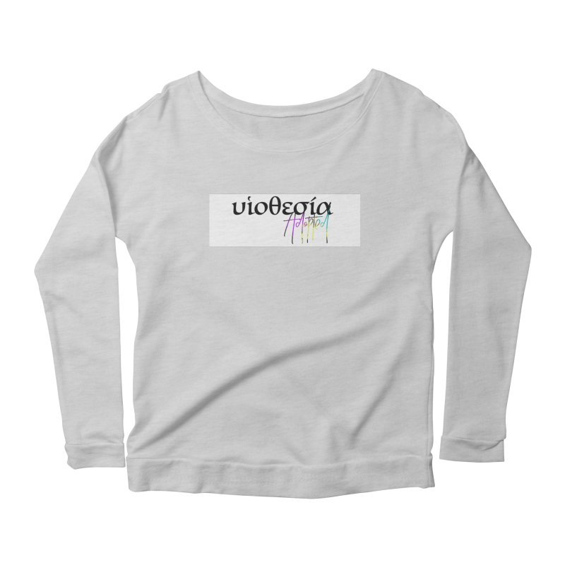 Huiothesia - Adopted (White) Women's Scoop Neck Longsleeve T-Shirt by XXXIII Apparel
