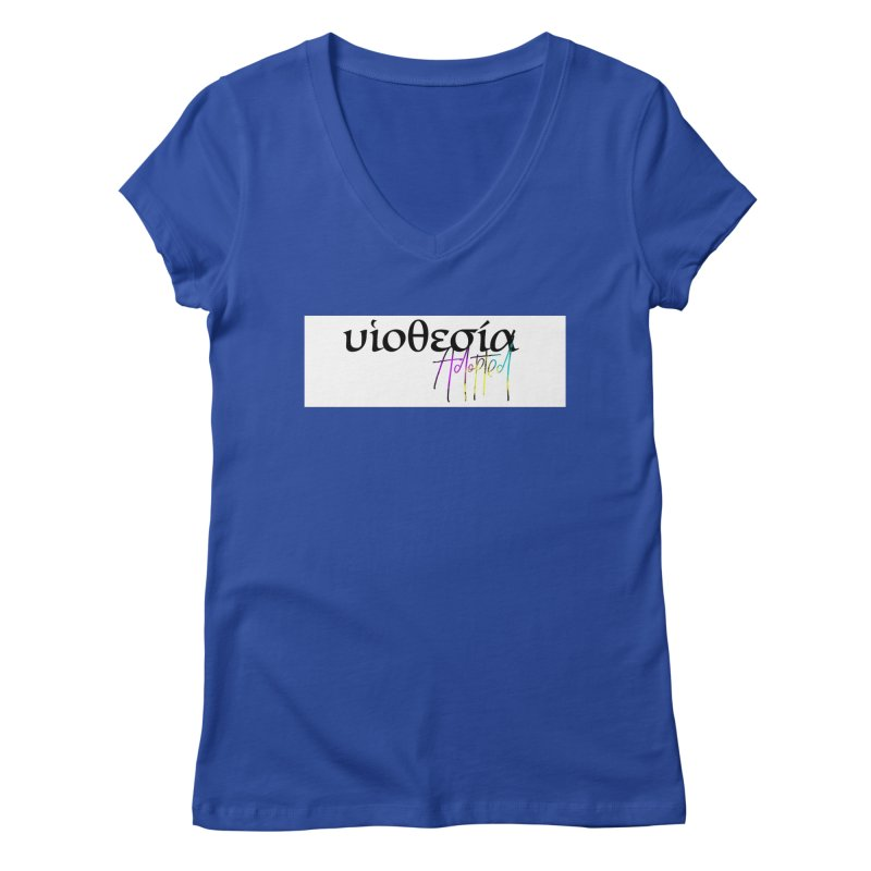 Huiothesia - Adopted (White) Women's Regular V-Neck by XXXIII Apparel