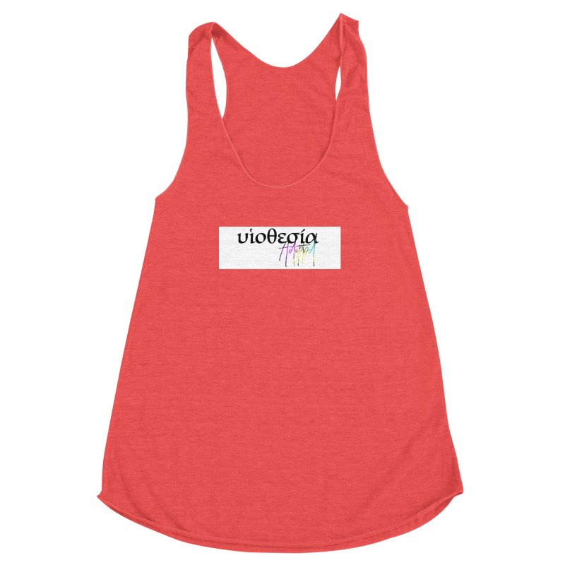 Huiothesia - Adopted (White) Women's Racerback Triblend Tank by XXXIII Apparel