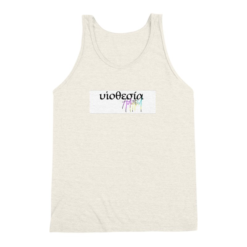 Huiothesia - Adopted (White) Men's Triblend Tank by XXXIII Apparel