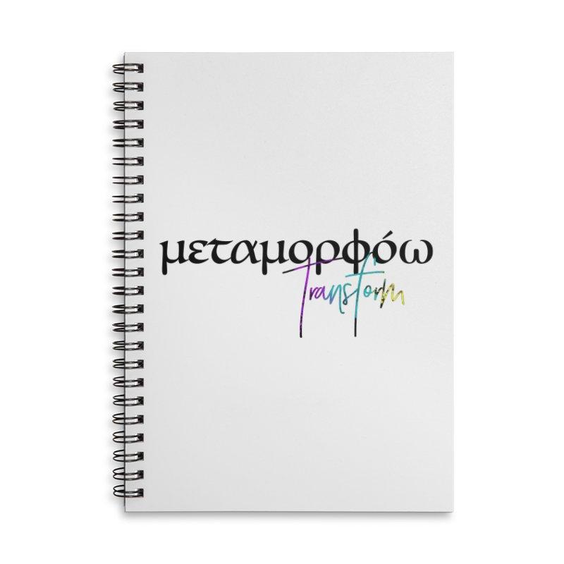 Metamorphoo - Transform Accessories Lined Spiral Notebook by XXXIII Apparel