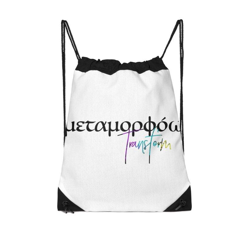 Metamorphoo - Transform Accessories Drawstring Bag Bag by XXXIII Apparel