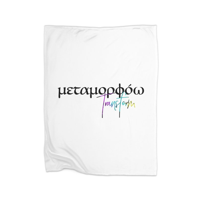 Metamorphoo - Transform Home Fleece Blanket Blanket by XXXIII Apparel