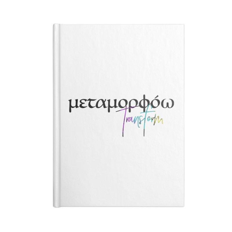 Metamorphoo - Transform Accessories Lined Journal Notebook by XXXIII Apparel