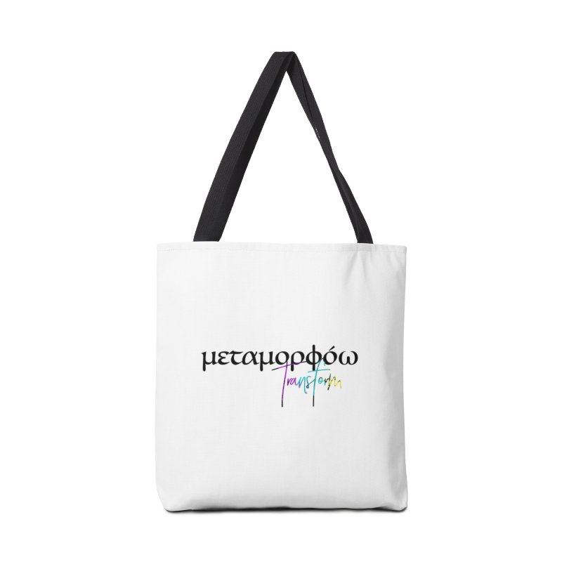 Metamorphoo - Transform (White) Accessories Tote Bag Bag by XXXIII Apparel