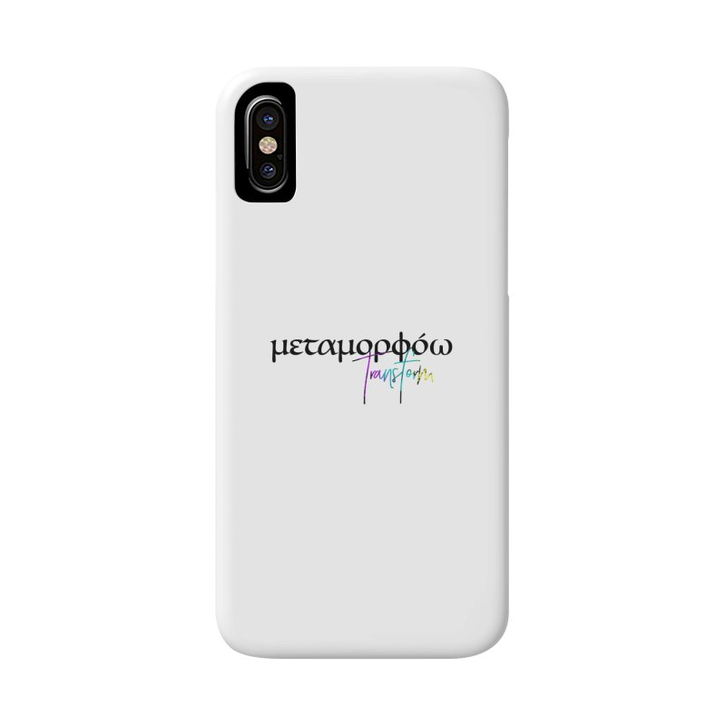 Metamorphoo - Transform (White) Accessories Phone Case by XXXIII Apparel