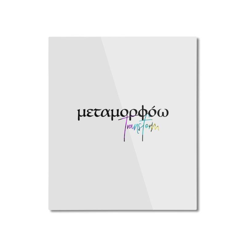 Metamorphoo - Transform (White) Home Mounted Aluminum Print by XXXIII Apparel