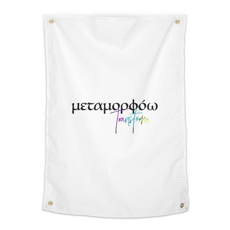 Metamorphoo - Transform (White) Home Tapestry by XXXIII Apparel