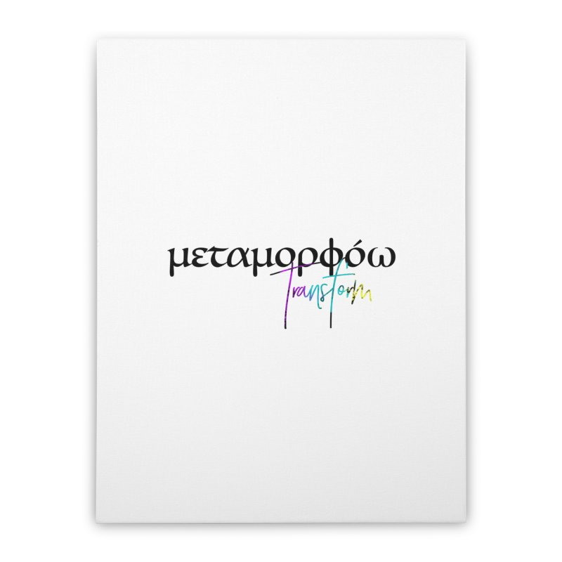 Metamorphoo - Transform (White) Home Stretched Canvas by XXXIII Apparel