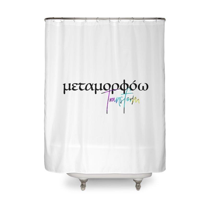Metamorphoo - Transform (White) Home Shower Curtain by XXXIII Apparel