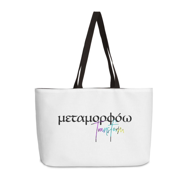 Metamorphoo - Transform (White) Accessories Weekender Bag Bag by XXXIII Apparel