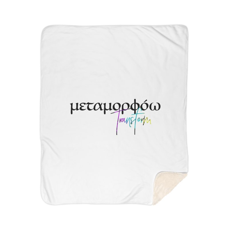 Metamorphoo - Transform (White) Home Sherpa Blanket Blanket by XXXIII Apparel