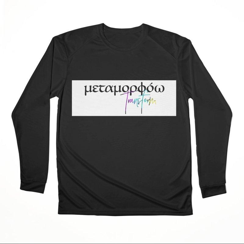 Metamorphoo - Transform (White) Men's Performance Longsleeve T-Shirt by XXXIII Apparel