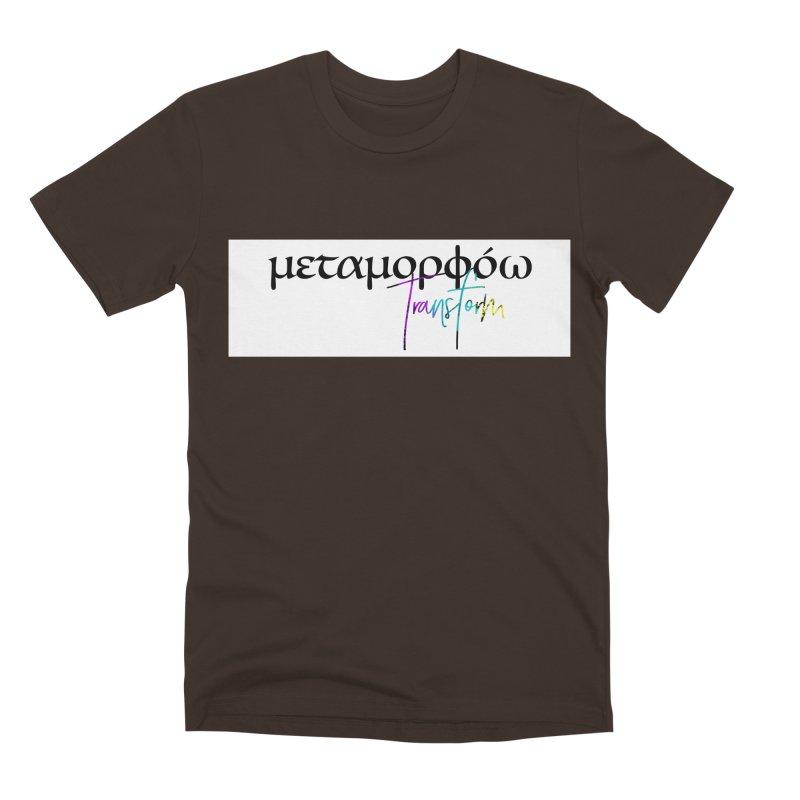 Metamorphoo - Transform (White) Men's Premium T-Shirt by XXXIII Apparel