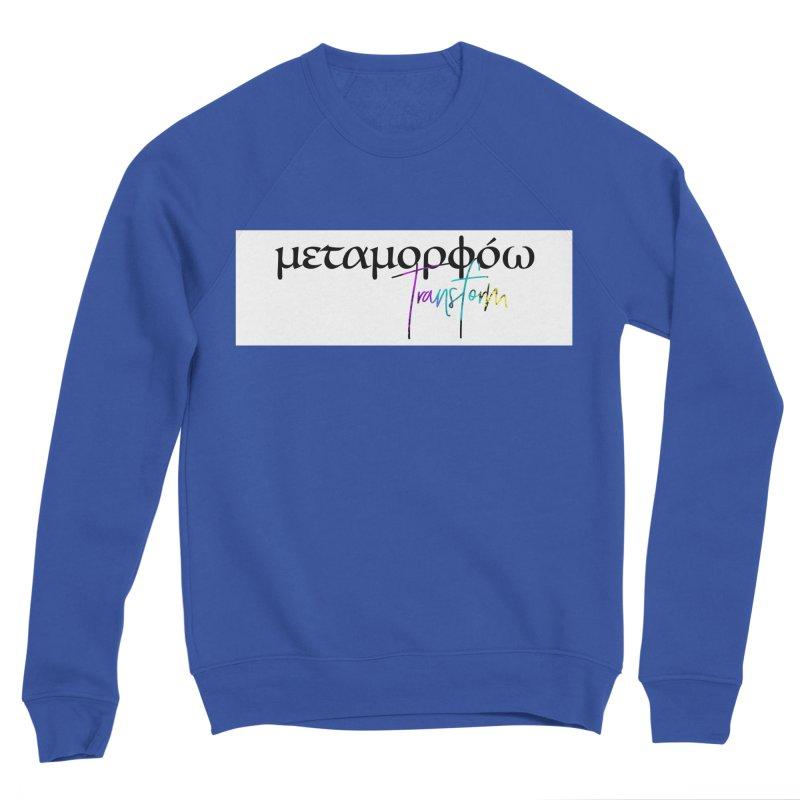Metamorphoo - Transform (White) Men's Sponge Fleece Sweatshirt by XXXIII Apparel