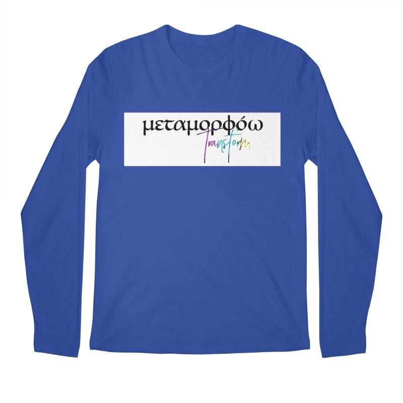 Metamorphoo - Transform (White) Men's Regular Longsleeve T-Shirt by XXXIII Apparel