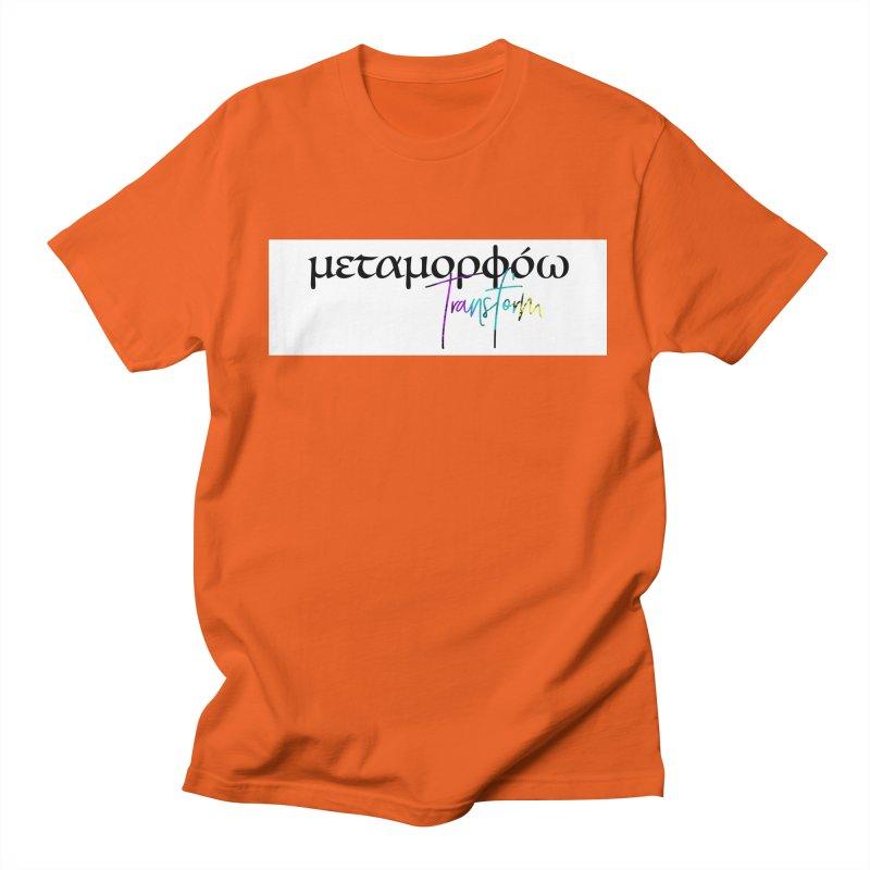 Metamorphoo - Transform (White) Men's Regular T-Shirt by XXXIII Apparel