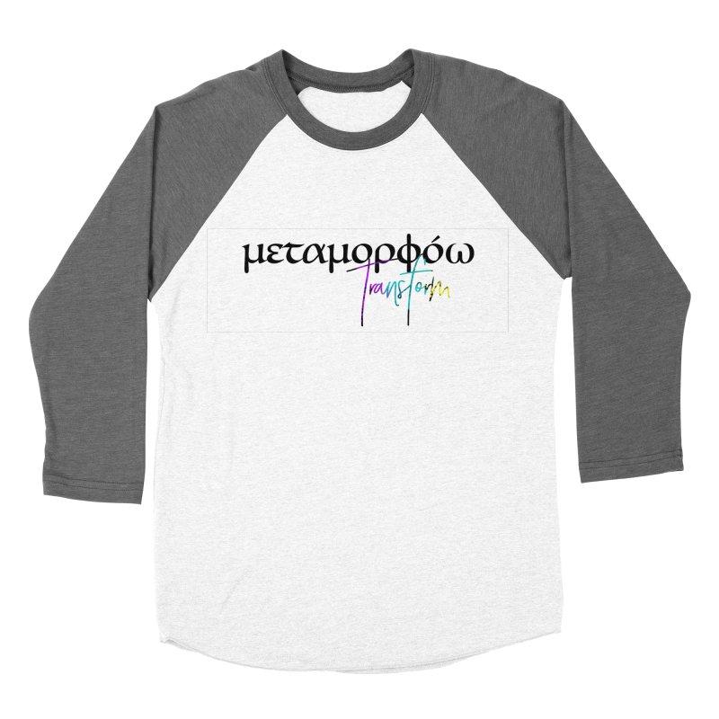 Metamorphoo - Transform (White) Women's Baseball Triblend Longsleeve T-Shirt by XXXIII Apparel