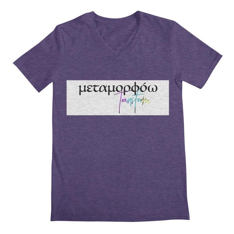 Metamorphoo - Transform (White) Men's Regular V-Neck by XXXIII Apparel