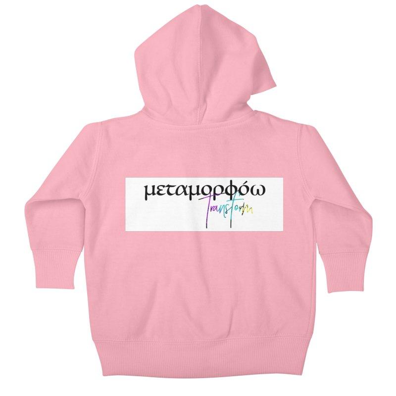 Metamorphoo - Transform (White) Kids Baby Zip-Up Hoody by XXXIII Apparel