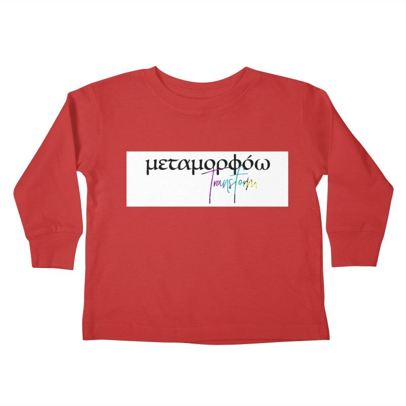 Metamorphoo - Transform (White) Kids Toddler Longsleeve T-Shirt by XXXIII Apparel