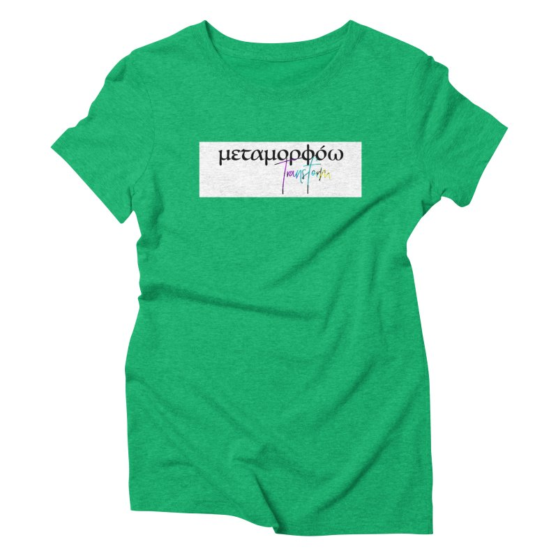 Metamorphoo - Transform (White) Women's Triblend T-Shirt by XXXIII Apparel