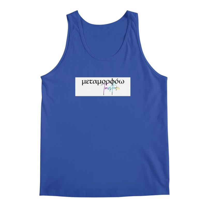 Metamorphoo - Transform (White) Men's Regular Tank by XXXIII Apparel