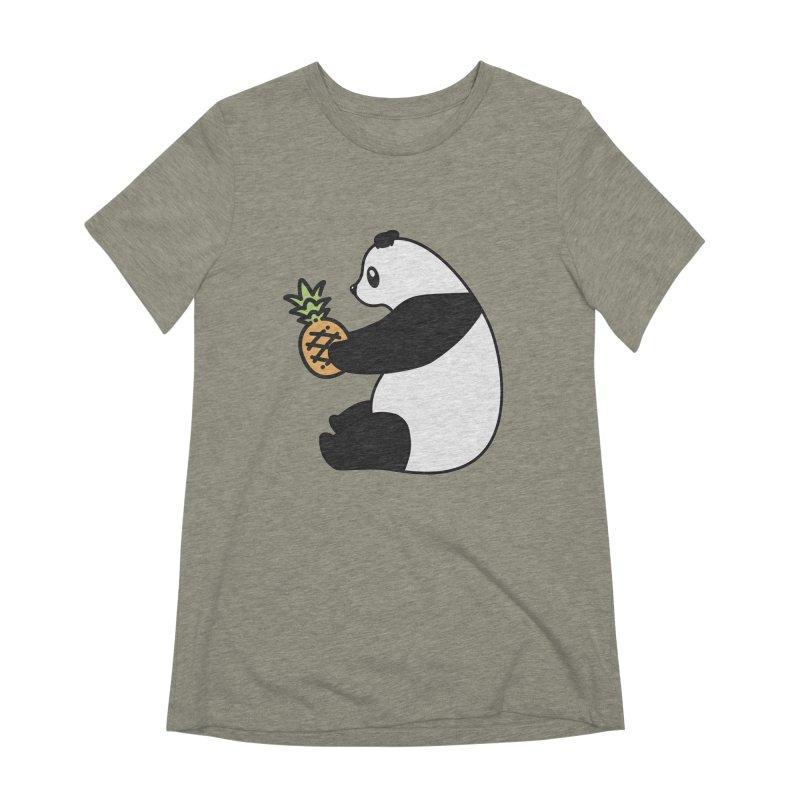 Bear Fruit - Pineapple Panda Women's Extra Soft T-Shirt by XXXIII Apparel