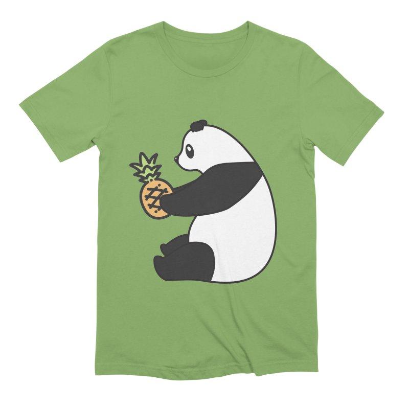 Bear Fruit - Pineapple Panda Men's Extra Soft T-Shirt by XXXIII Apparel