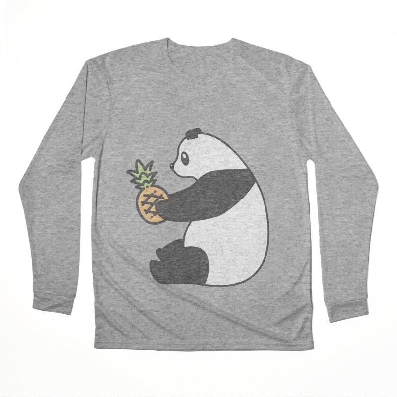 Bear Fruit - Pineapple Panda Women's Performance Unisex Longsleeve T-Shirt by XXXIII Apparel