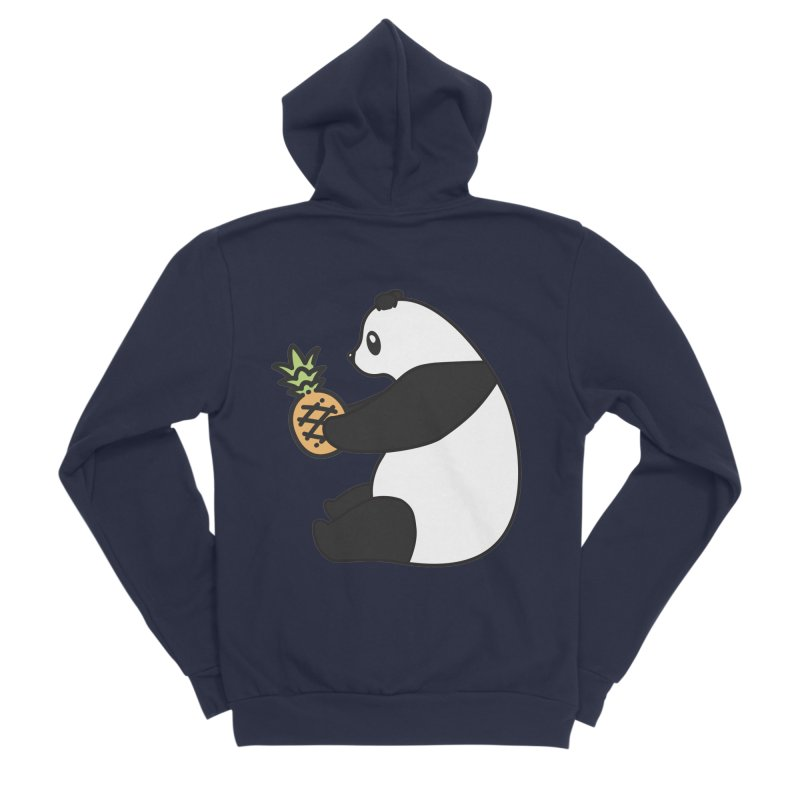 Bear Fruit - Pineapple Panda Women's Sponge Fleece Zip-Up Hoody by XXXIII Apparel