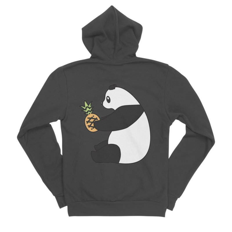 Bear Fruit - Pineapple Panda Men's Sponge Fleece Zip-Up Hoody by XXXIII Apparel