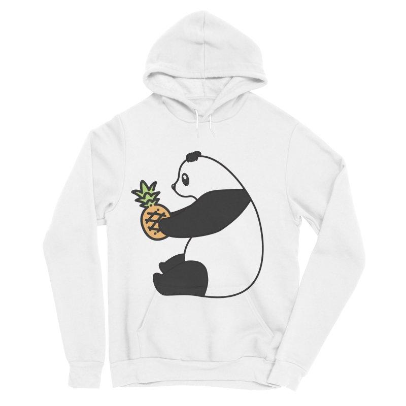 Bear Fruit - Pineapple Panda Women's Sponge Fleece Pullover Hoody by XXXIII Apparel