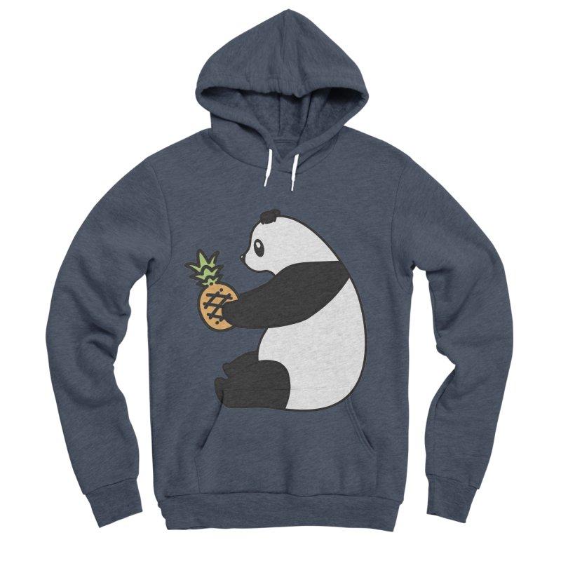 Bear Fruit - Pineapple Panda Men's Sponge Fleece Pullover Hoody by XXXIII Apparel