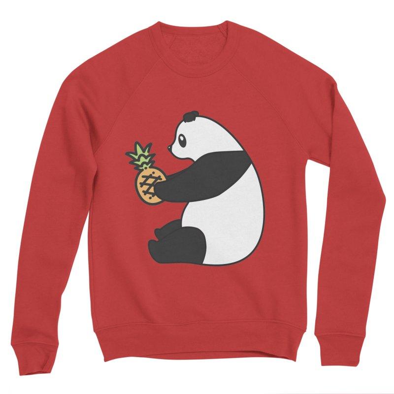 Bear Fruit - Pineapple Panda Women's Sponge Fleece Sweatshirt by XXXIII Apparel