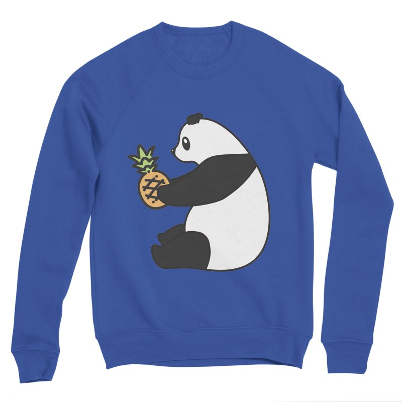 Bear Fruit - Pineapple Panda Women's Sponge Fleece Sweatshirt by XXXIII Apparel
