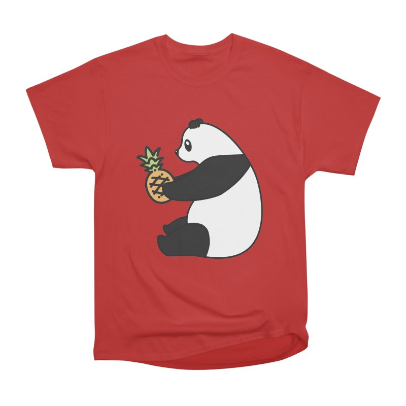 Bear Fruit - Pineapple Panda Women's Heavyweight Unisex T-Shirt by XXXIII Apparel