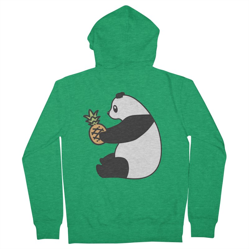 Bear Fruit - Pineapple Panda Women's French Terry Zip-Up Hoody by XXXIII Apparel