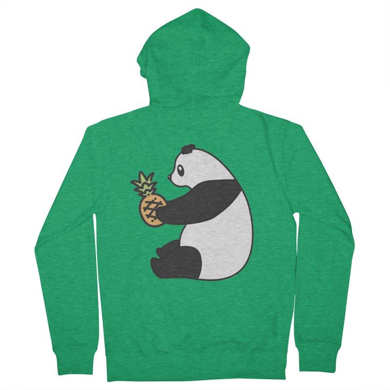 Bear Fruit - Pineapple Panda Men's French Terry Zip-Up Hoody by XXXIII Apparel