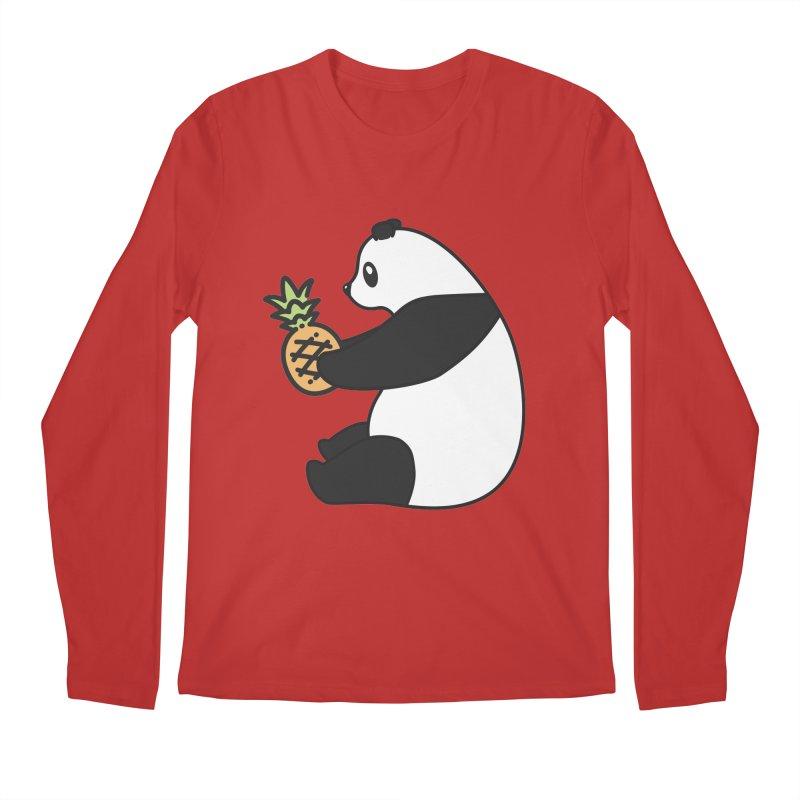 Bear Fruit - Pineapple Panda Men's Regular Longsleeve T-Shirt by XXXIII Apparel