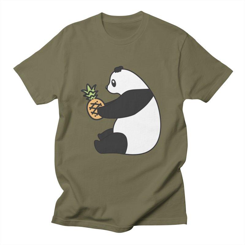 Bear Fruit - Pineapple Panda Men's Regular T-Shirt by XXXIII Apparel