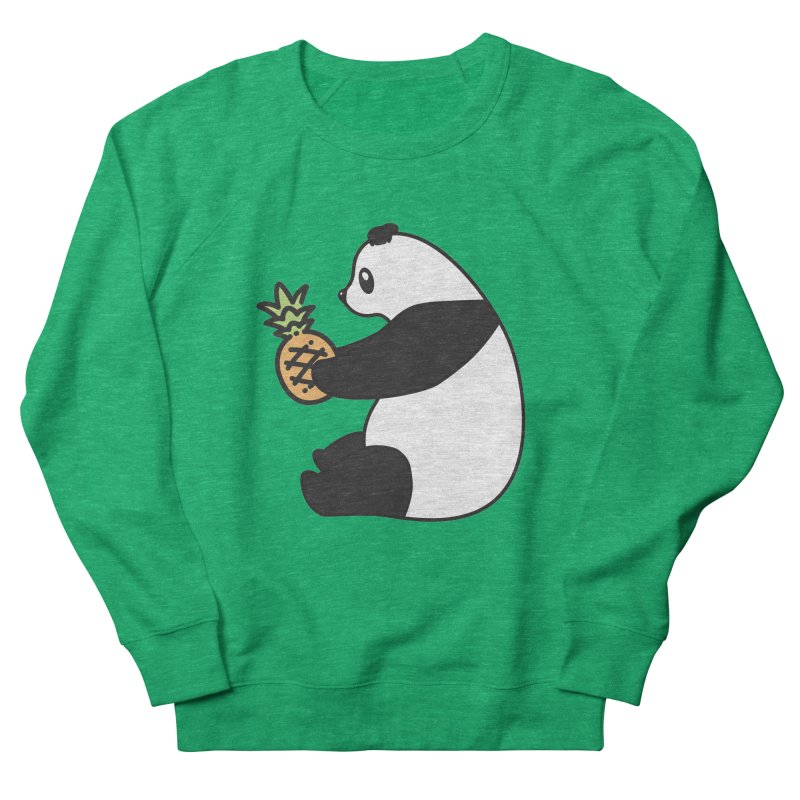 Bear Fruit - Pineapple Panda in Men's French Terry Sweatshirt Heather Kelly by XXXIII Apparel